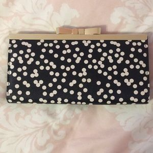 Black and white polka dot wallet